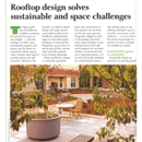 Rooftop design solves sustainable and space challenges