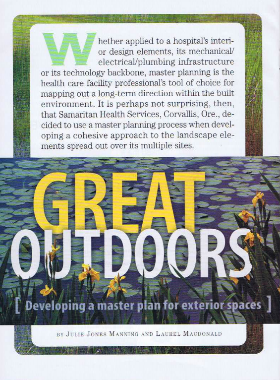Great Outdoors - Developing a master plan for exterior spaces